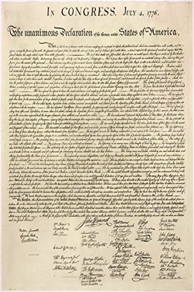 Declaration Of Independence Side By Side With Modern Text By Thomas Jefferson Amazon Com Services Llc Declaration Of Independence Thomas Jefferson Independence
