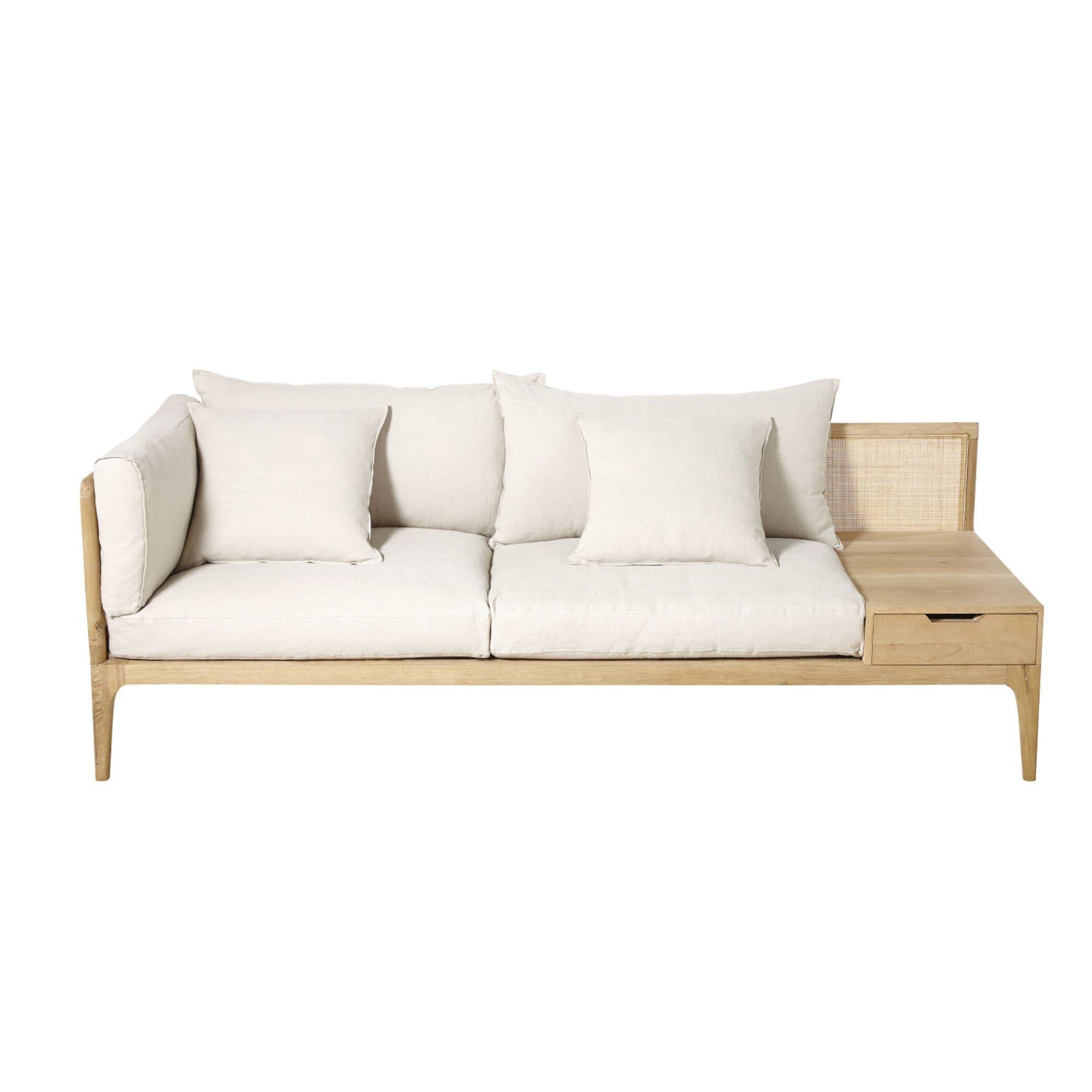 Ivory 3 Seater Linen Sofa Delphes Linen Sofa Sofa Furniture