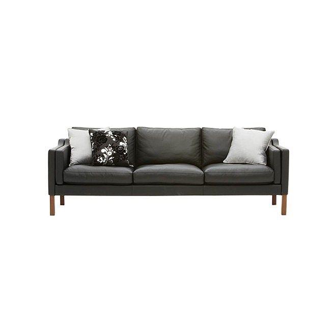 Sofas Living Furniture Nood Nz Replica Borge Mogensen 3 Seater Black Walnut Furniture Sofa Sofa Furniture
