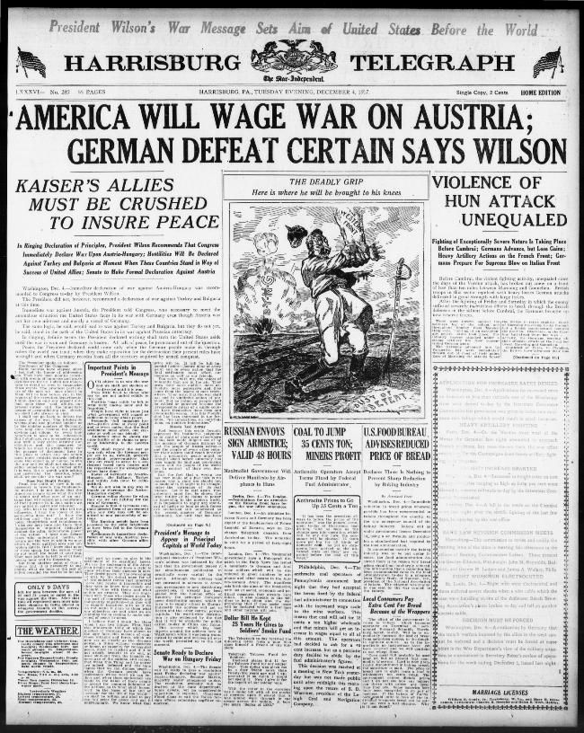 December 4 1917 World War I America World History