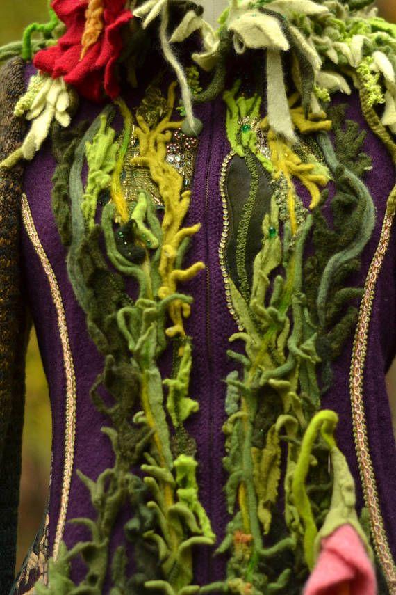 Eine Einzigartige Mittelschwere Pullover Mantel Mit Stil Gerade Aus Einem  Märchen Wird Von Hand Gefertigt. Umfunktionierten Wolle Und Mischfasern  Pullover, ...
