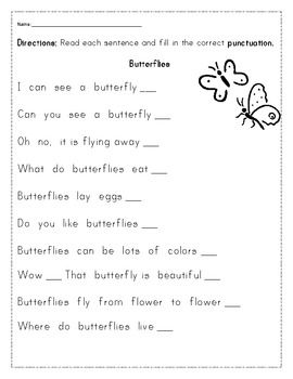 Butterfly Unit Reading And Math Writing Units Grade 1 Reading
