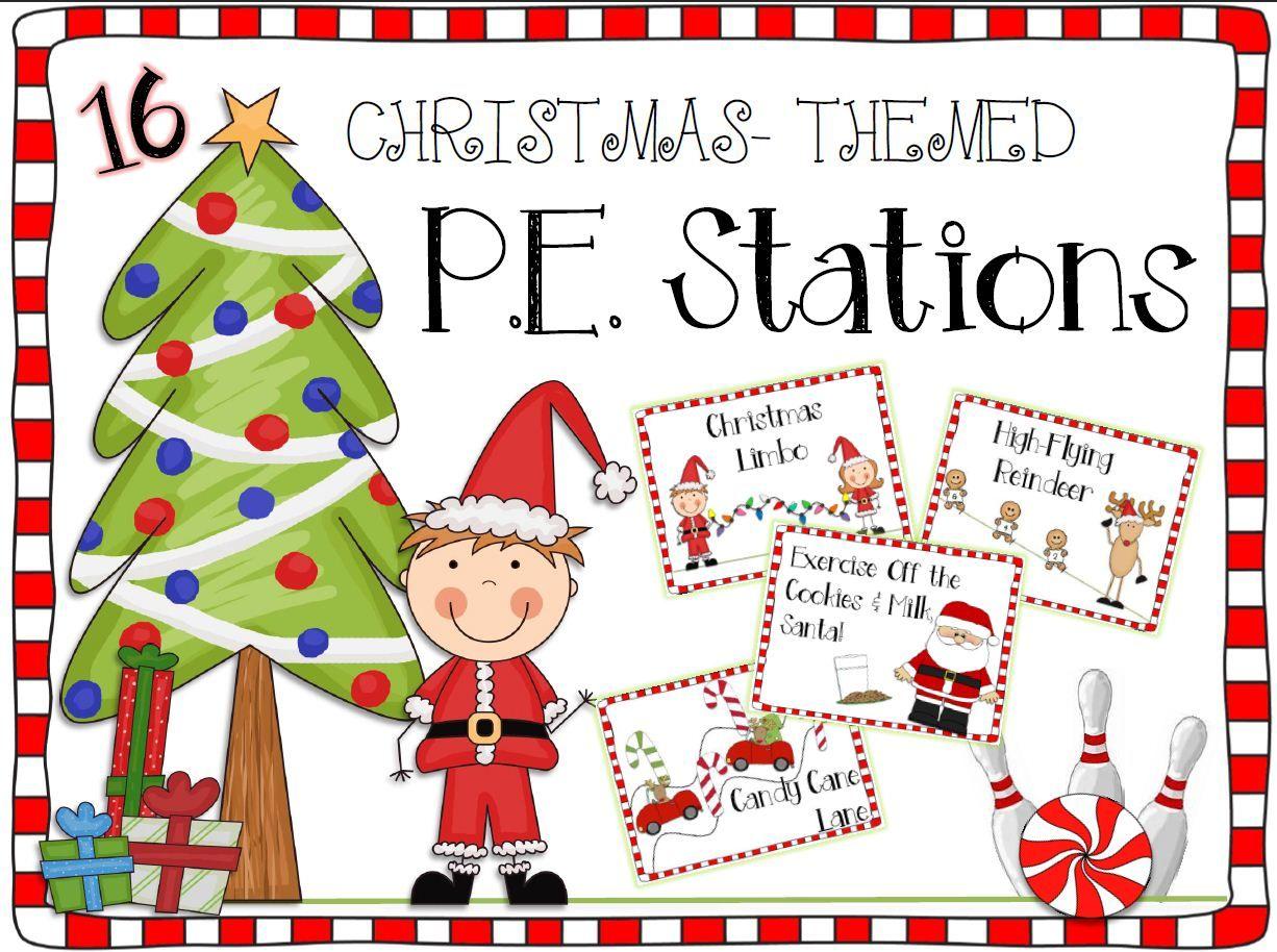 Christmas P.E. Stations in 2018   TpT Misc. Lessons   Pinterest ...