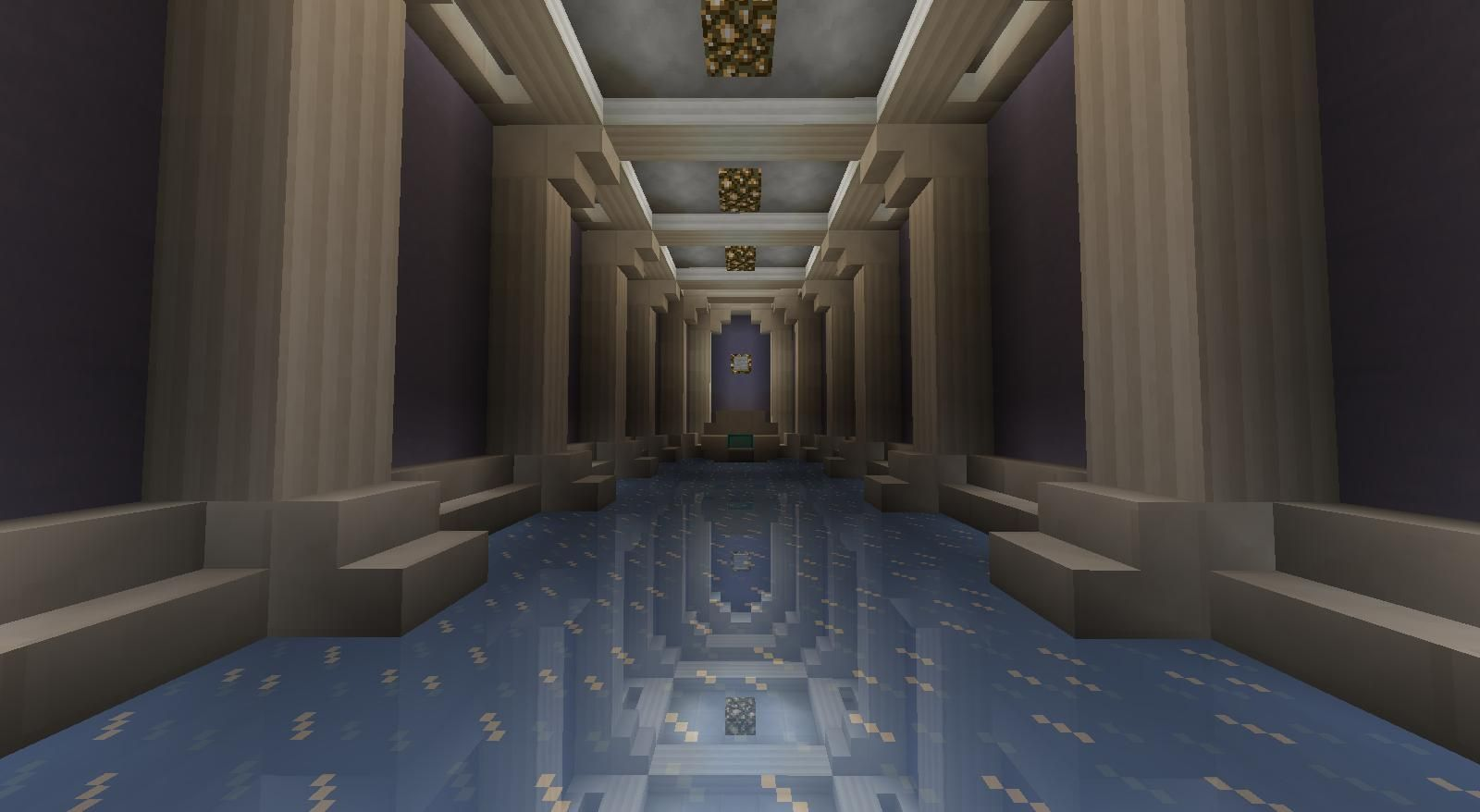 Detail Mirror Effect Using Ice Minecraft Castle Minecraft Interior Design Minecraft