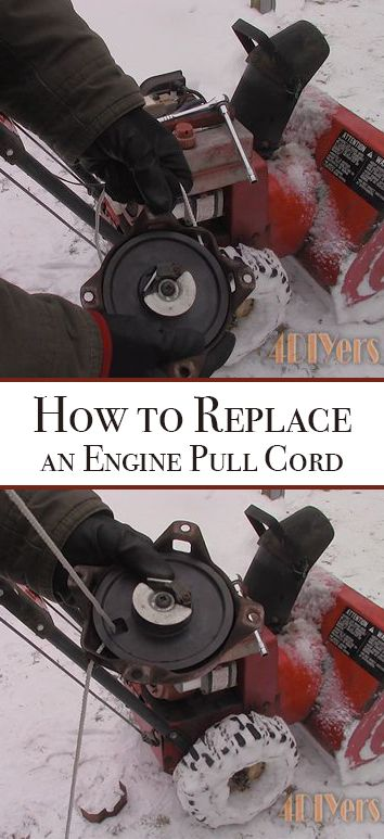 How To Replace An Engine S Pull Cord Lawn Mower Repair Engineering Small Engine
