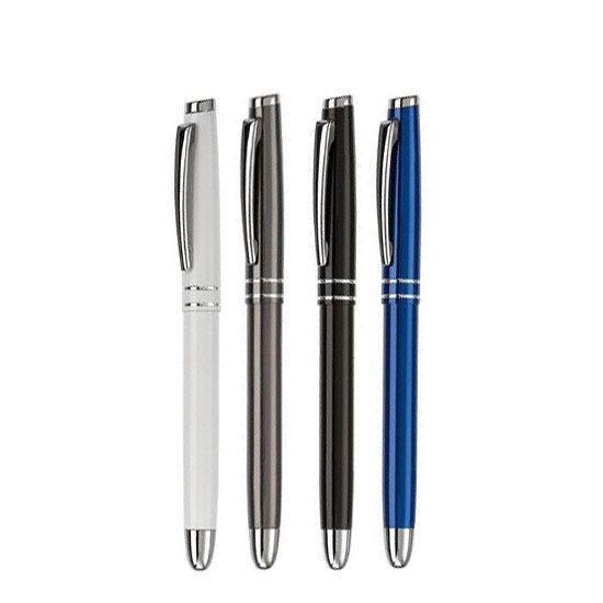 Bedrukte Pennen Rollerbal Pen Two Stripes