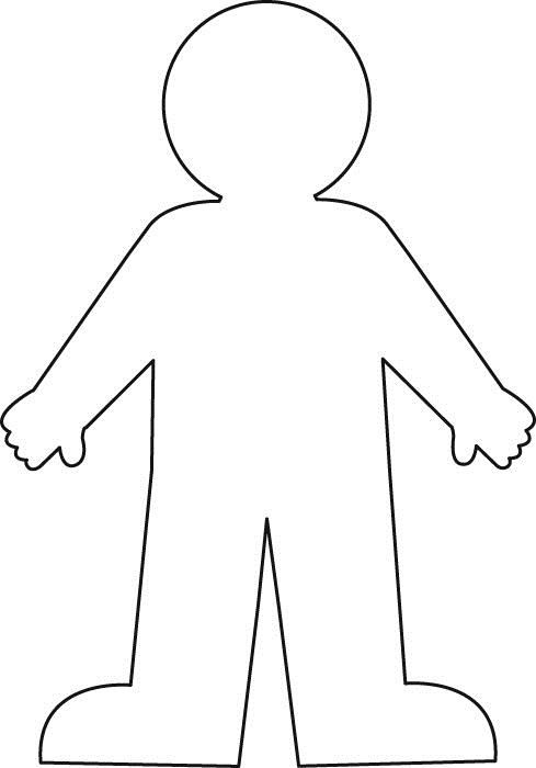 Worksheet With A Blank Body Outline