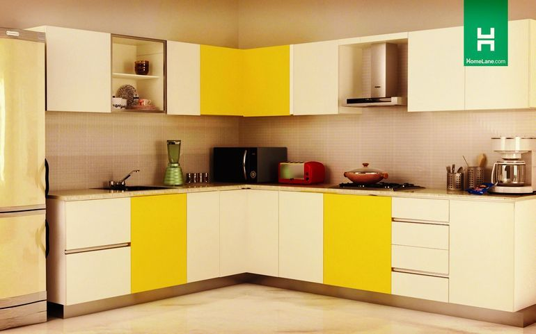 Buy Robin Trendy Lshaped Kitchen Online Best Price  Homelane Simple L Shaped Kitchen Design India Decorating Inspiration