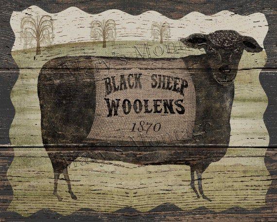 Folk Art Primitive Isobell The Cow On 8x10 Canvas