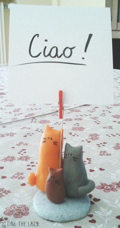 Portafoto con famiglia di gattini in pasta polimerica: il mio regalino per Lu #polymerclay #fimo