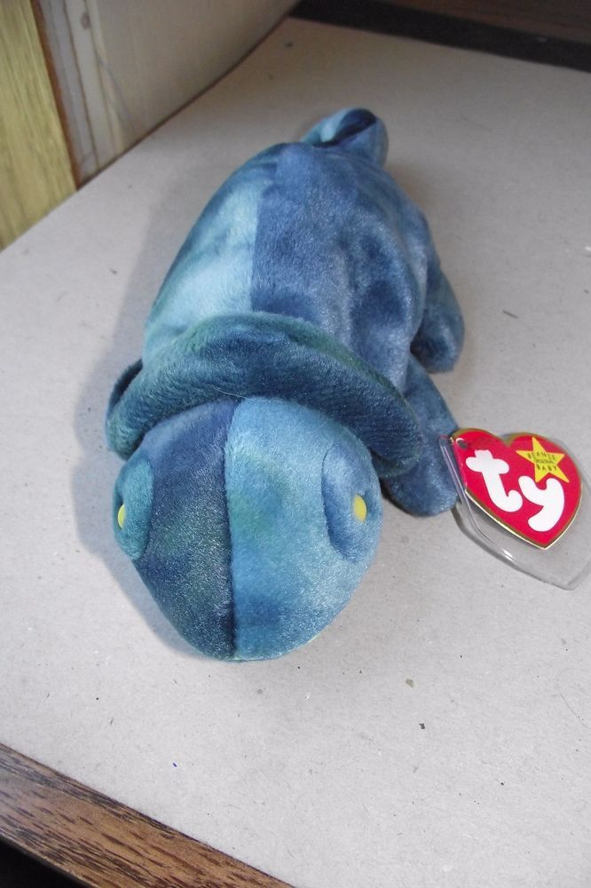 9139c790439 Ty 1997 Original Retired Chameleon Rainbow Beanie Baby Plush Tag Protector  New  Ty  Beanie