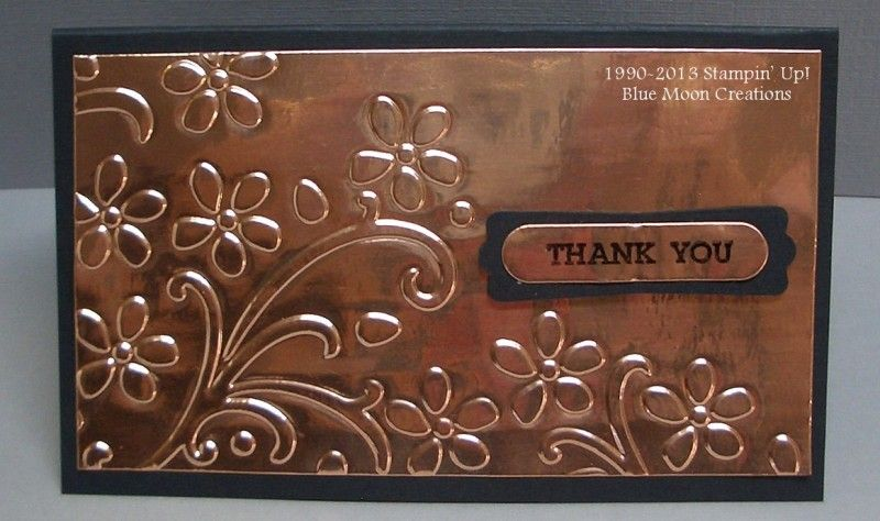 Embossed Copper Flashing by Bluemoon Cards and Paper