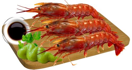 2 Kg Whole Raw Sashimi Argentine Red Prawn Seafrozen Seafood