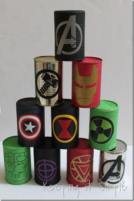 Photo of Avengers Party Game – DIY Avengers Bowlingdosen • Einfach halten