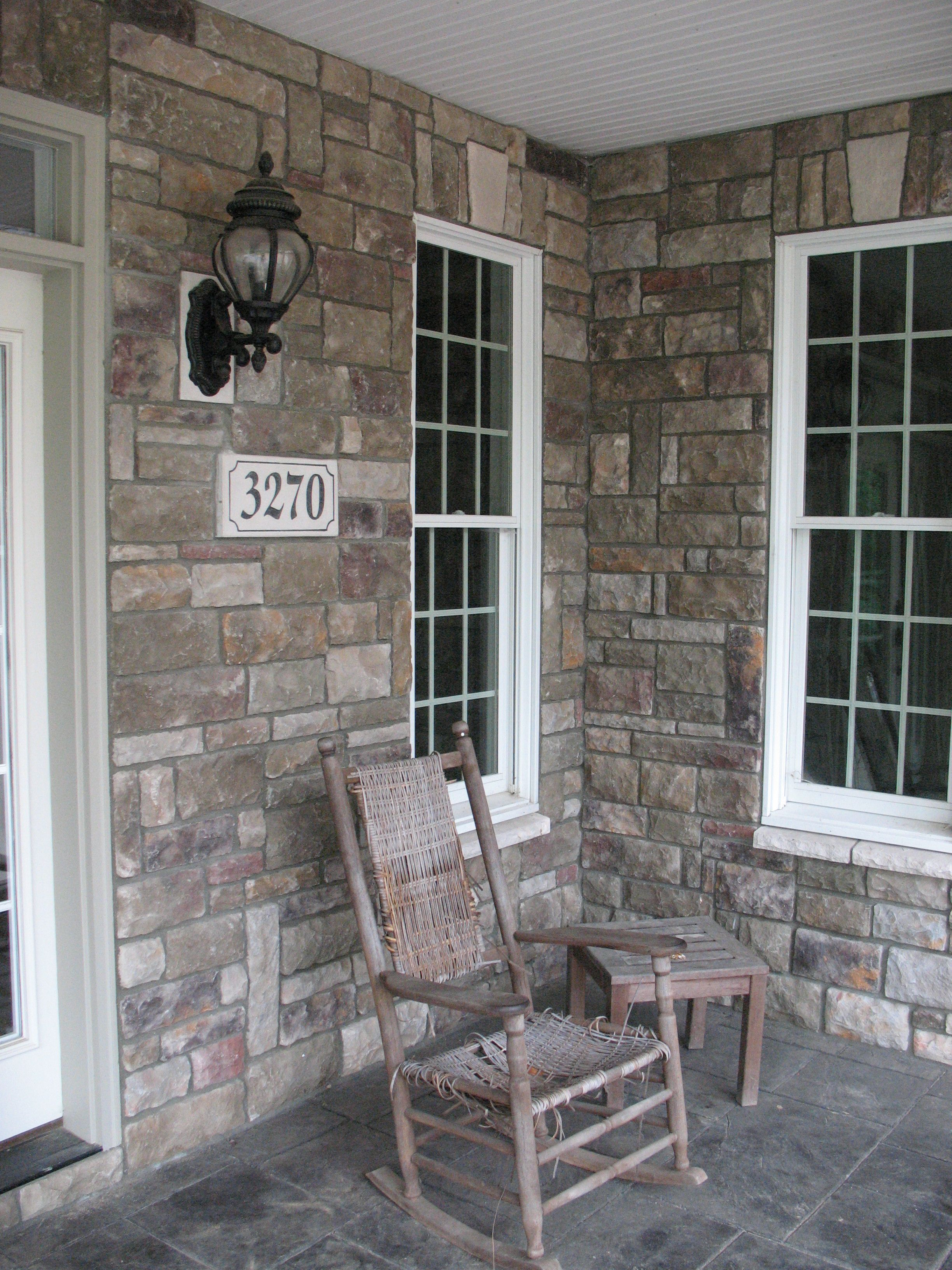 Front Porch Accented With Bucks County Limestone From