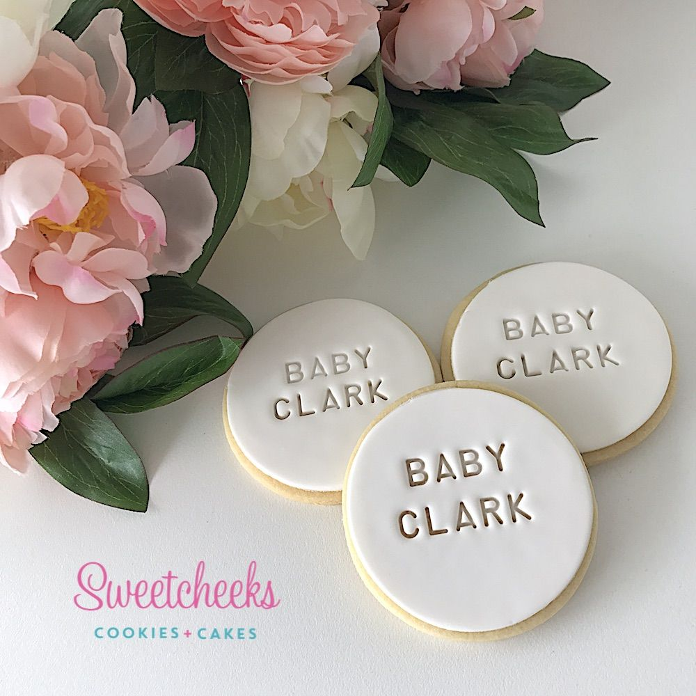 Baby Shower Personalised Cookies Melbourne, Sydney