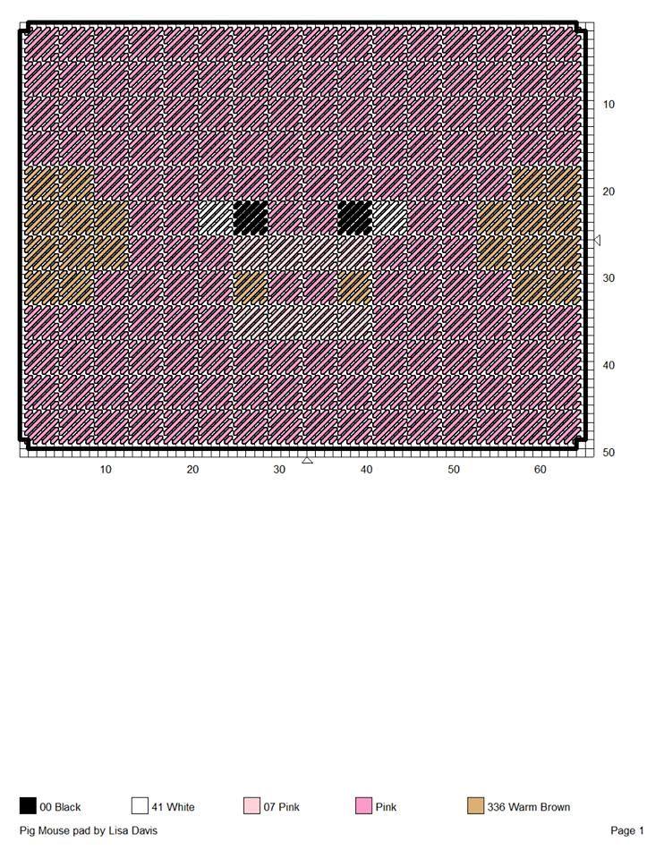 Pig mouse Pad   crochet - minecraft   Pinterest   Minecraft