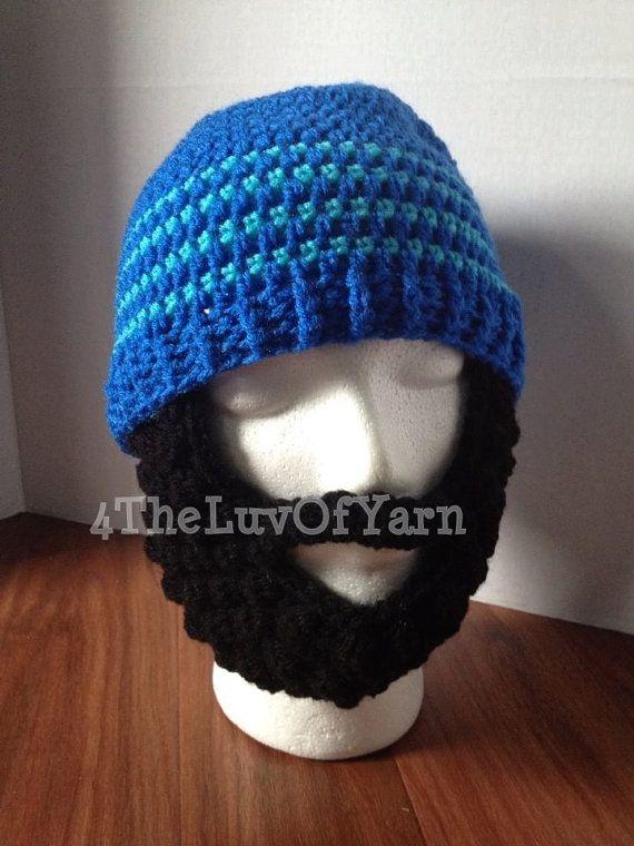 1fc98d2192c Bearded Beanies Crochet Bearded Beanies Mens hat by 4TheLuvOfYarn ...