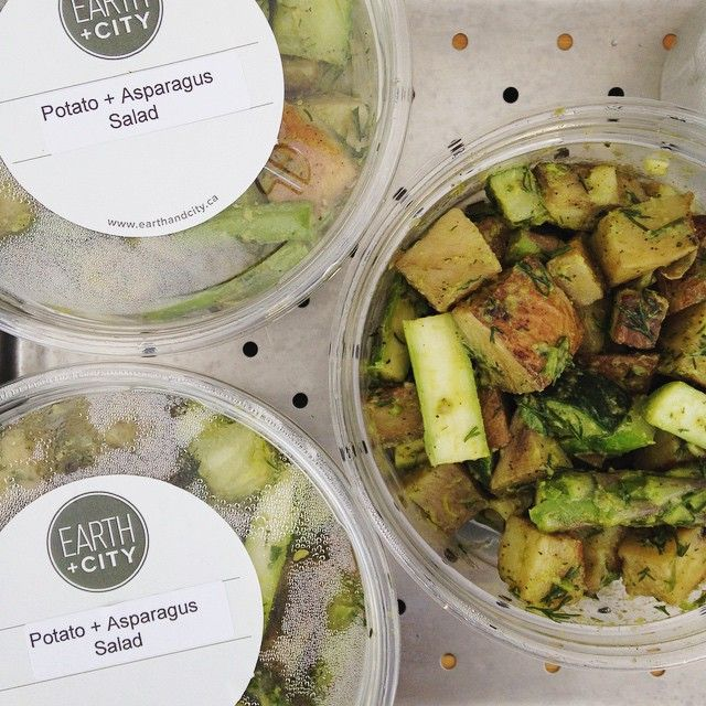 New salad today at @wychwoodbarns and @withrowmarket - Potato Asparagus Salad with a dill, chive, and lemons dressing. #local #delicious #fresh #farmersmarket