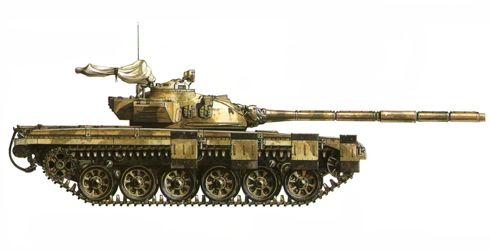 Tanque M-72 Iraní de la Guardia Pasdaran Revolucionaria Islamica, Guerra Iran-Irak, 1986.