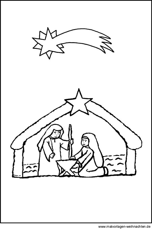 Krippe Malvorlagen Ausmalbild Weihnachtskrippe Malvorlage Krippe Zum Ausdrucken Und Free
