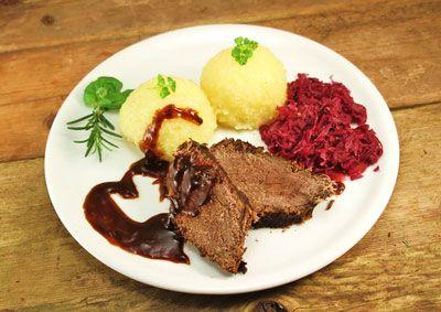 Böfflamott, bayerisches Fleischgericht mit Ochsenfleisch.