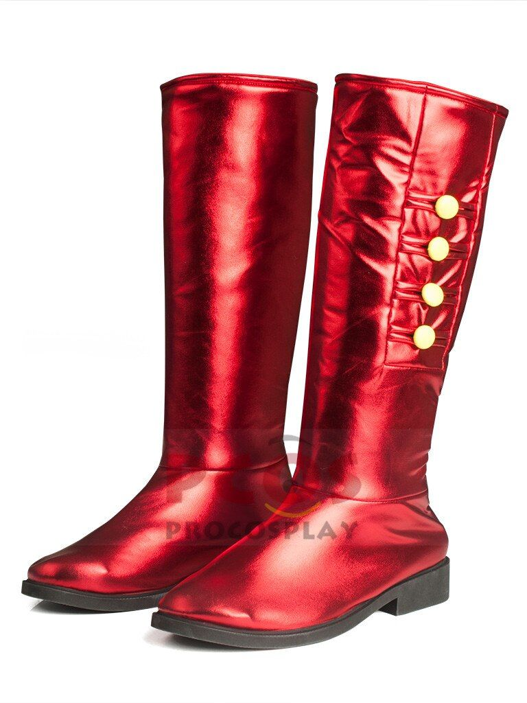 Marvel/'s The Avengers Captain America Red Boots Shoes Cosplay Costume
