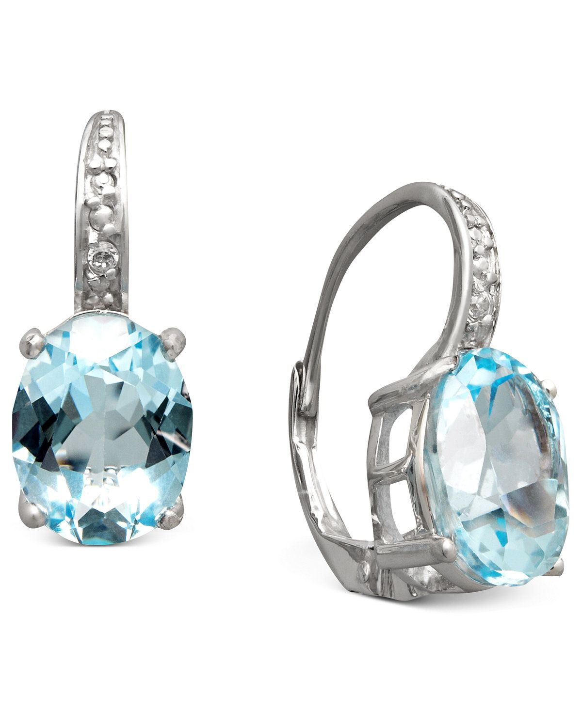 Sterling Silver Earrings, Blue Topaz (7 Ct. T.w.) And