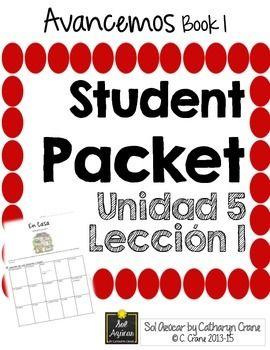 Avancemos 1 Unit 5 Lesson 1 Student Handouts & Notes - La