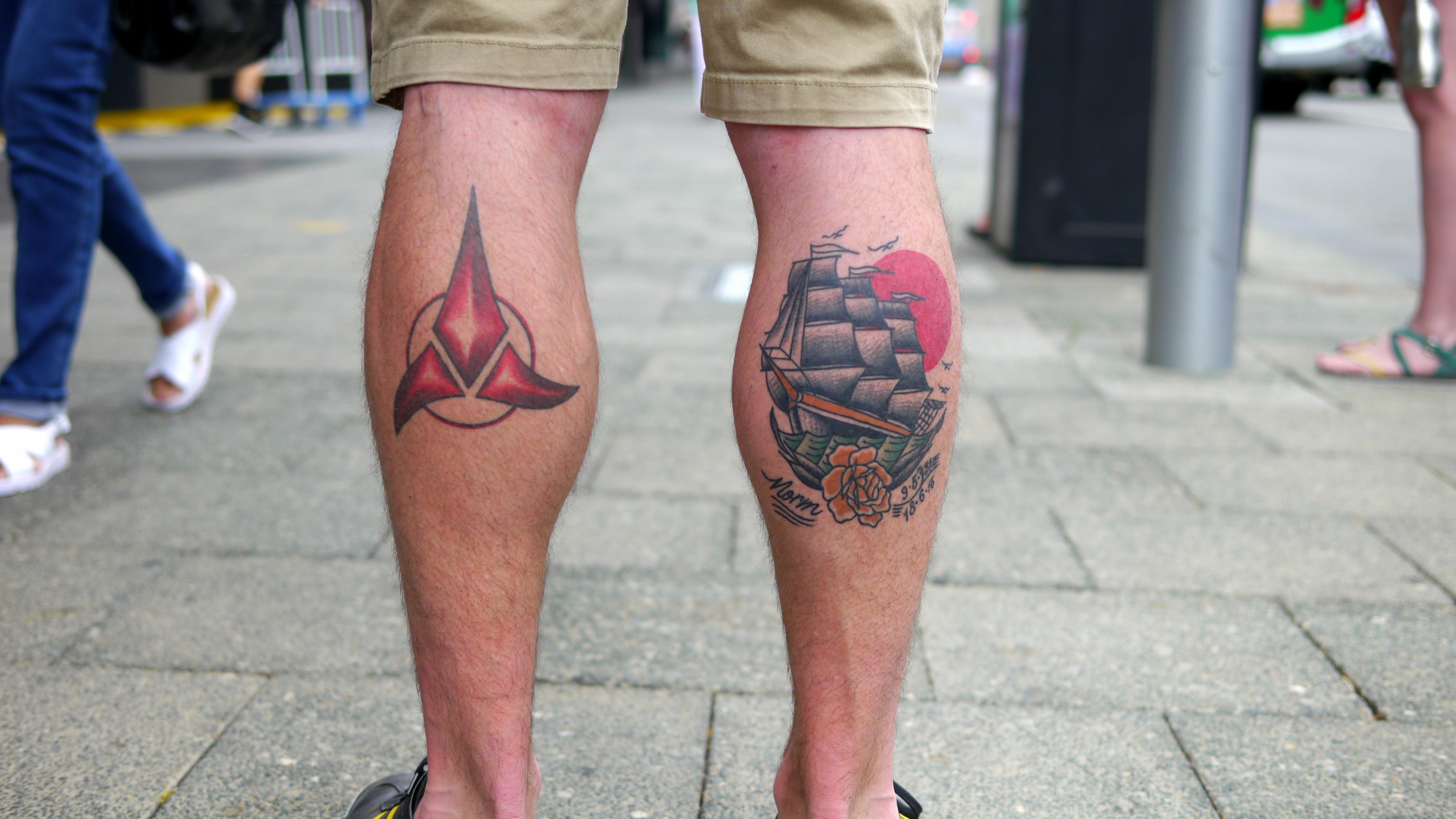 The Left One Is A Symbol For One Of The Races In Star Trek I Have
