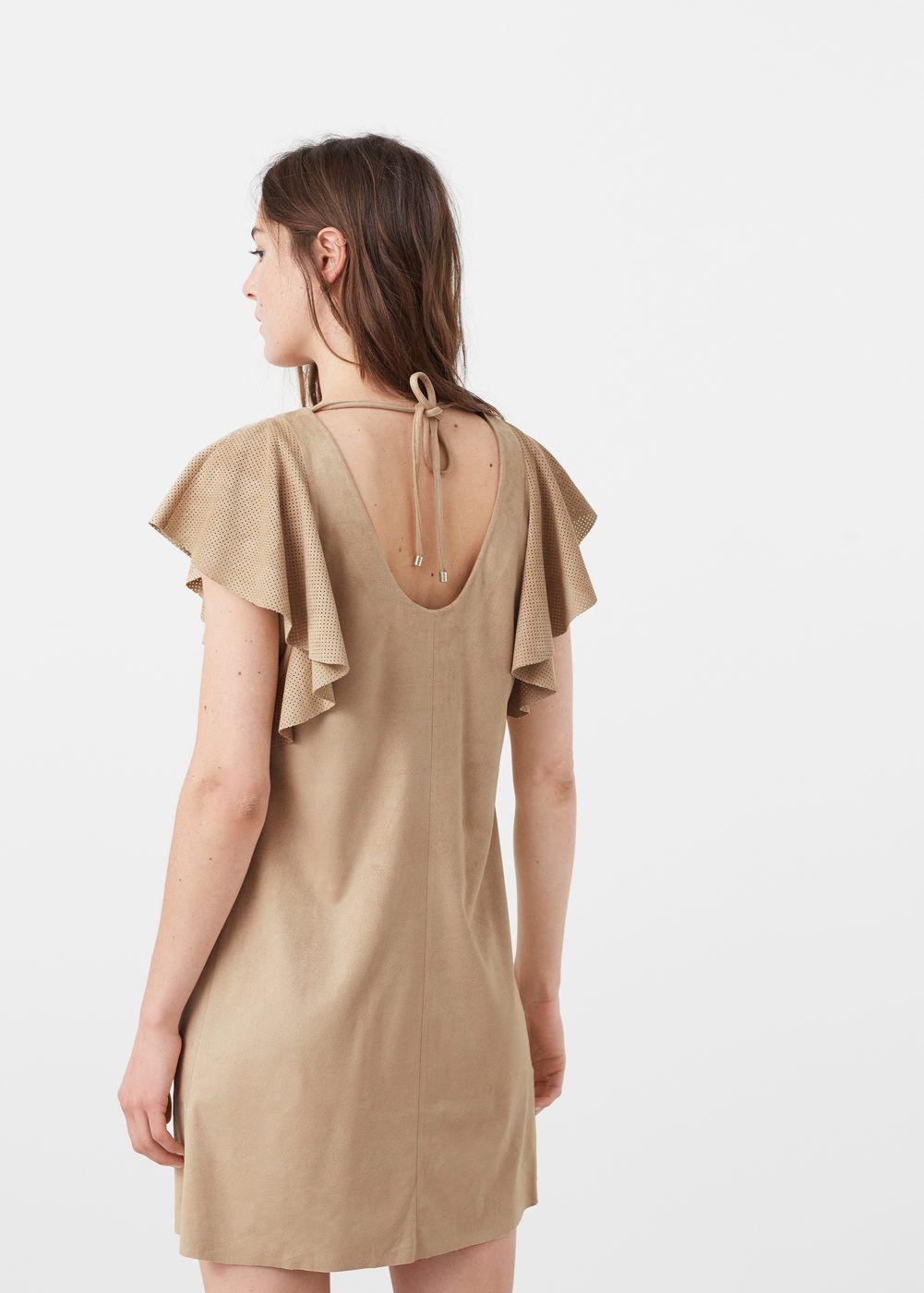 Sleeve detail dress | MANGO