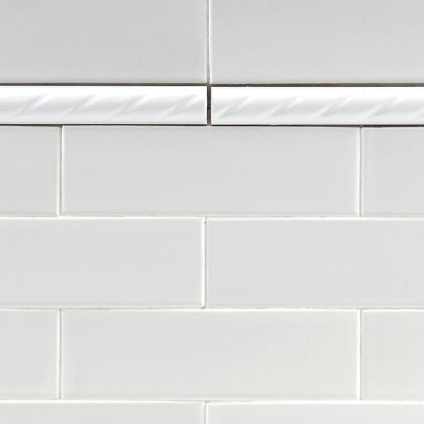 Somertile 1x8 In White Rope Pencil Ceramic Trim Tile Pack Of 12