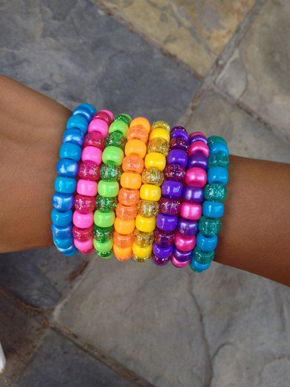 Pony Bead Bracelets Bracelet Plastic Kid Kandi