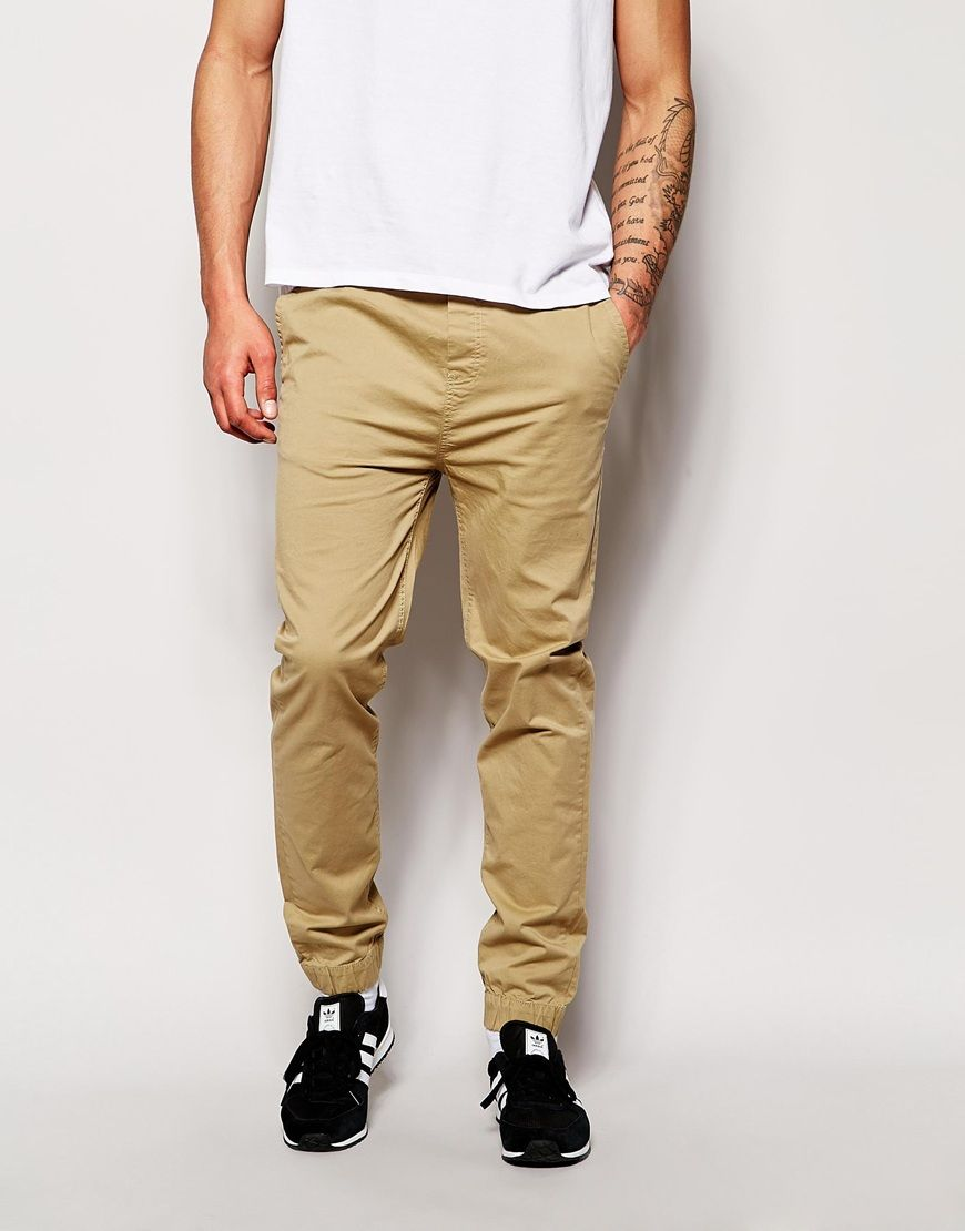 b3c28a975d5558 Solid Cuffed Chinos in Straight Fit | Wedding | Cuffed chinos ...