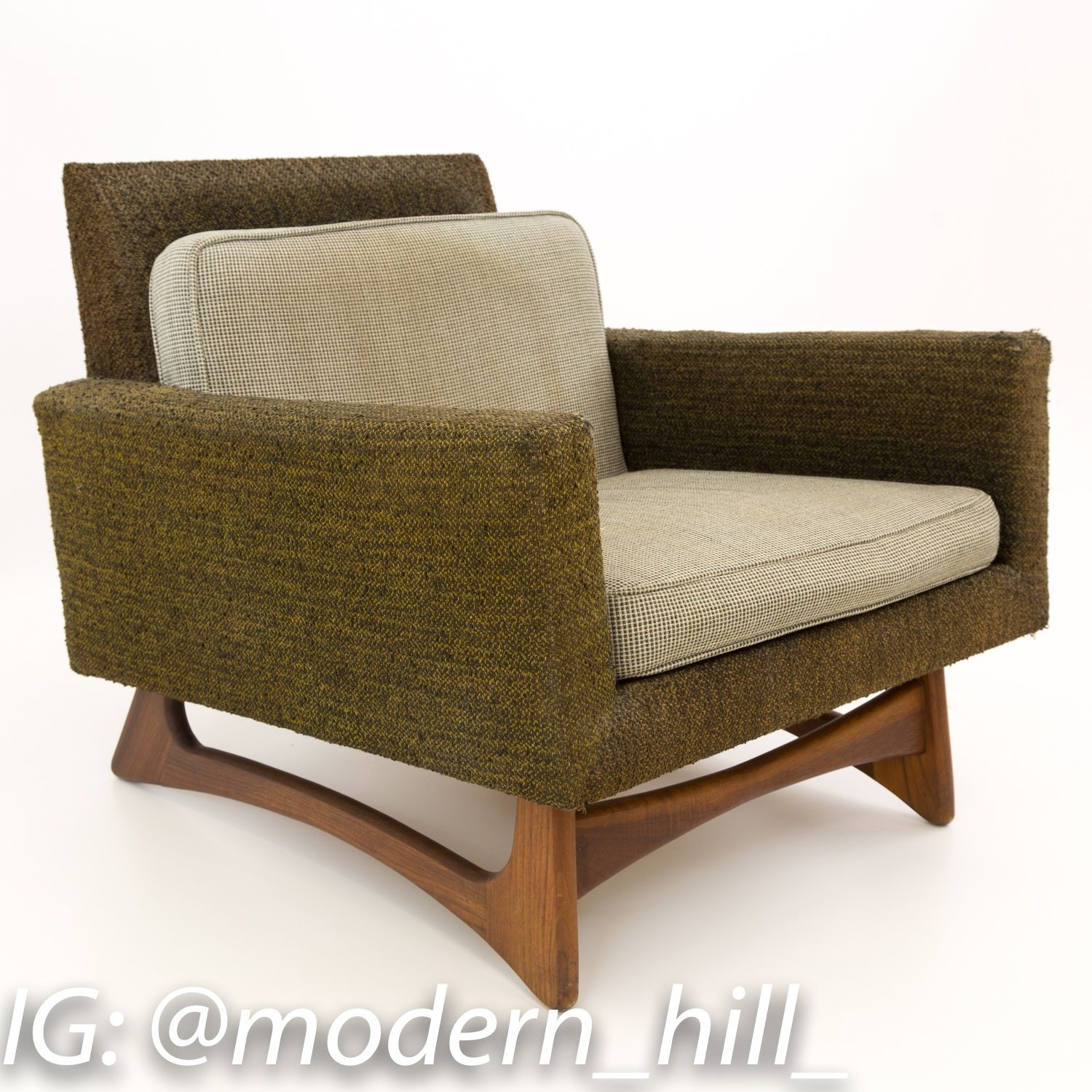 Prime Adrian Pearsall For Craft Associates Mid Century Modern Bralicious Painted Fabric Chair Ideas Braliciousco