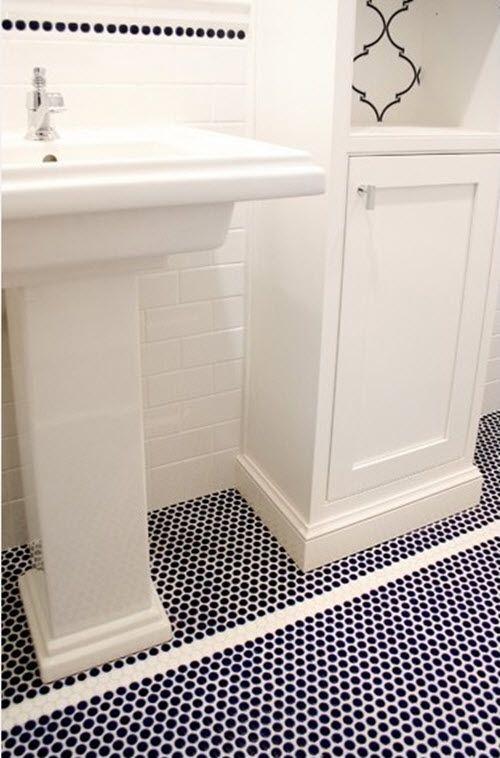 37 Dark Blue Bathroom Floor Tiles Ideas