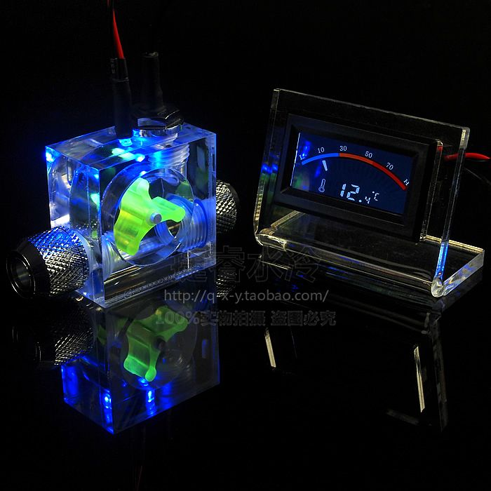 Computer Water Cooling Liquid Flow Indicator Digital Pointer