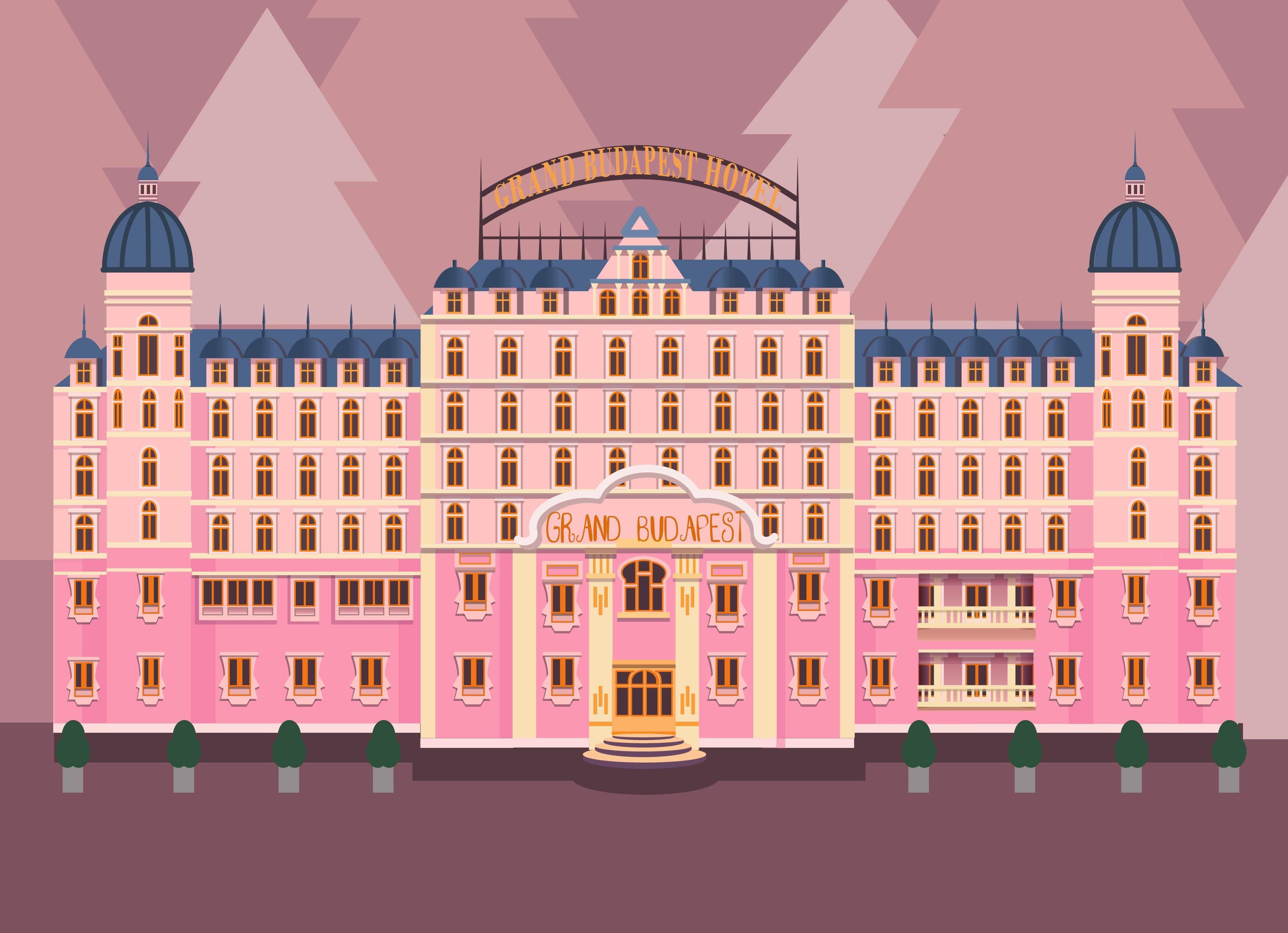the grand budapest hotel illustration artwork instagram ye nn. Black Bedroom Furniture Sets. Home Design Ideas