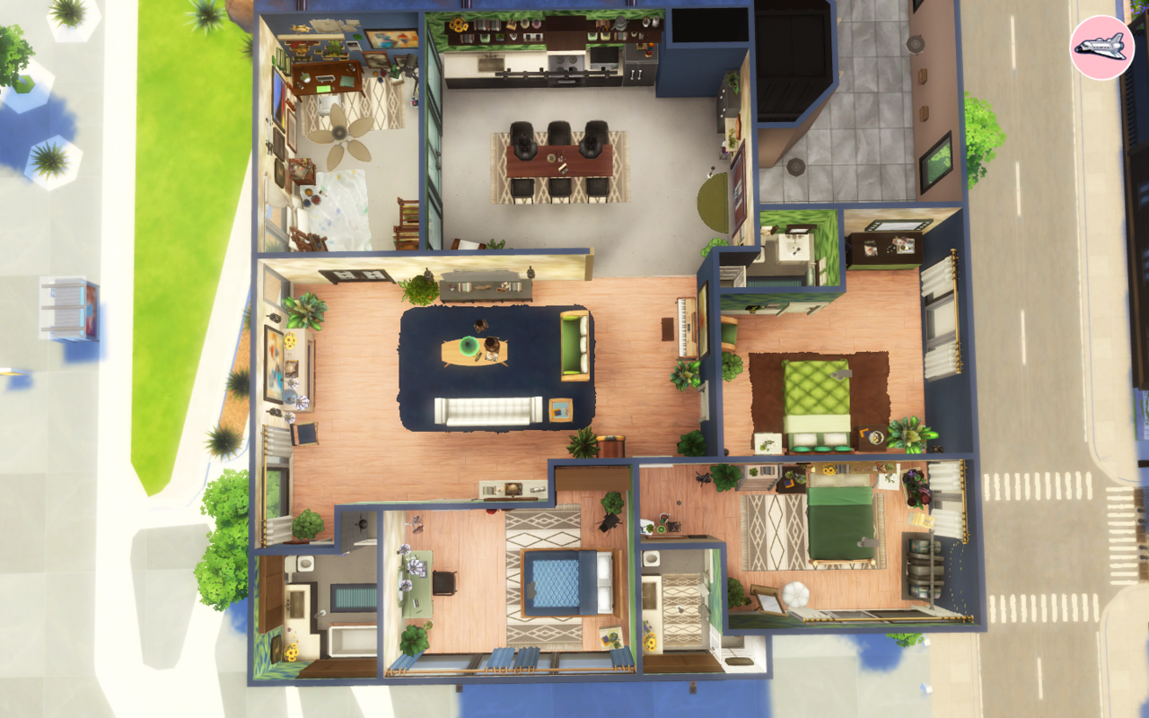 Maxis Match Cc World Sims House Sims House Design Sims 4 House Design