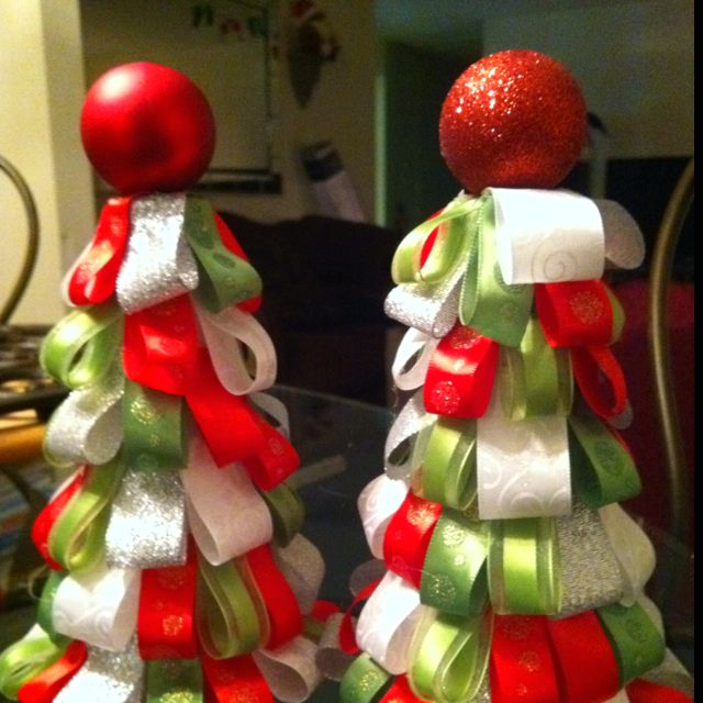 Ribbon Christmas Trees DIY Projects and Crafts Pinterest Trees