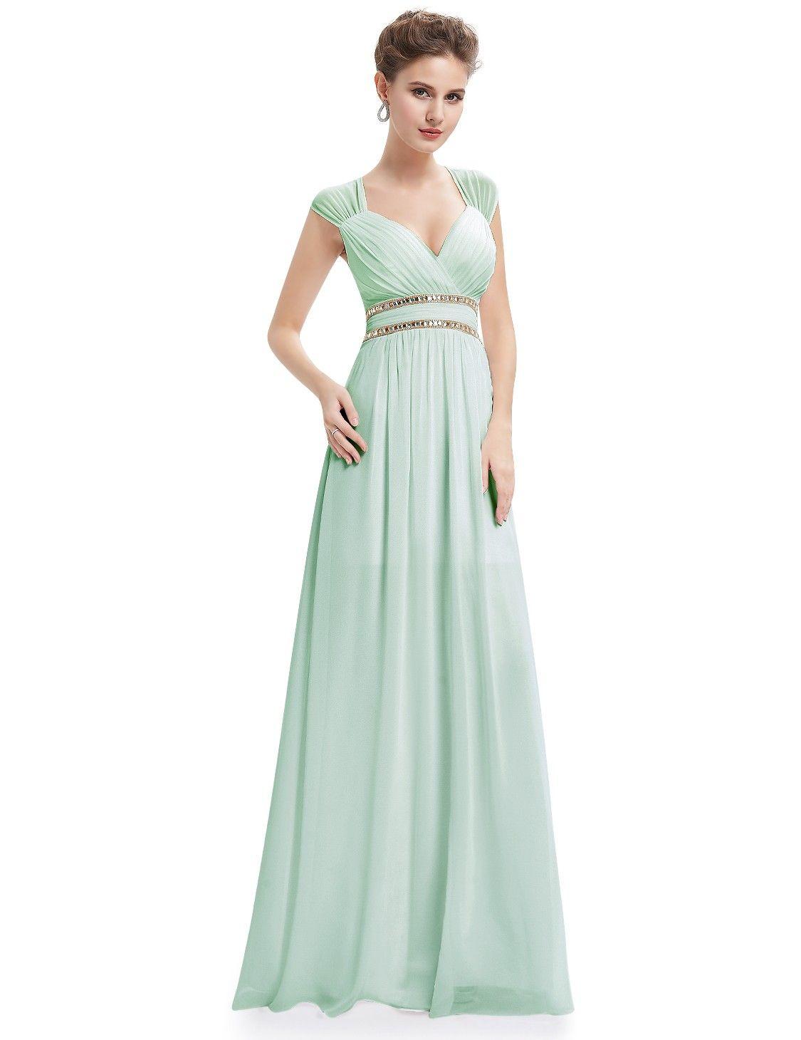Mint grünes empire abendkleid damenmode alle trends im mode