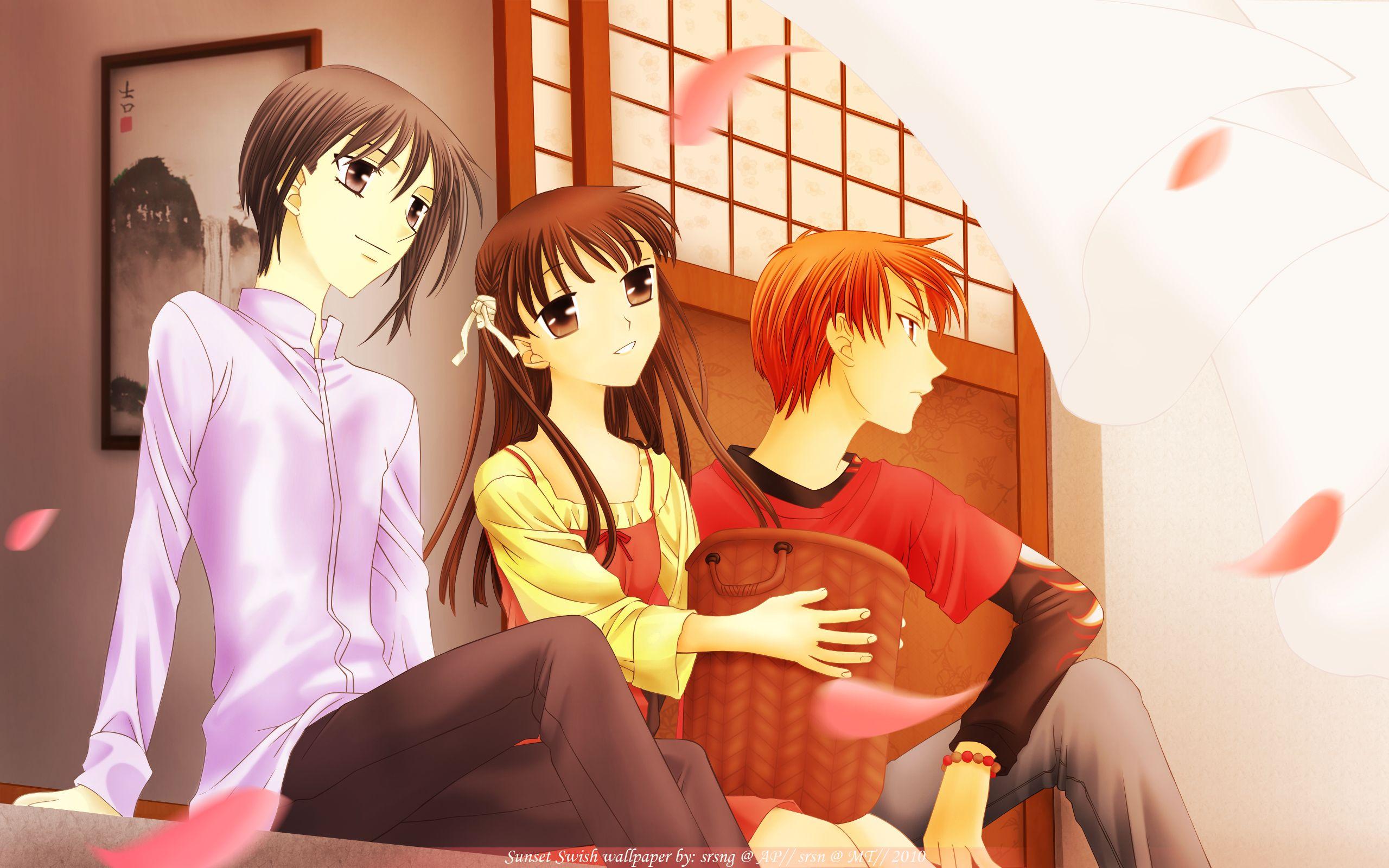 Yuki, Tohru and Kyo Fruits Basket Fruits basket anime