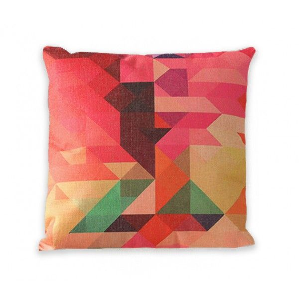 "Geometric Crystal Gem Zip Pillow Cover 18"" x 18"" by Geo Evolution"