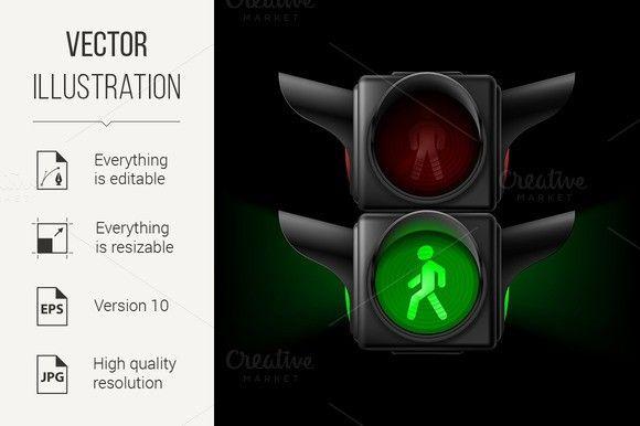 Pedestrian Traffic Light Traffic Light Traffic Light