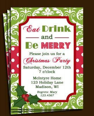 free printable christmas invitations templates