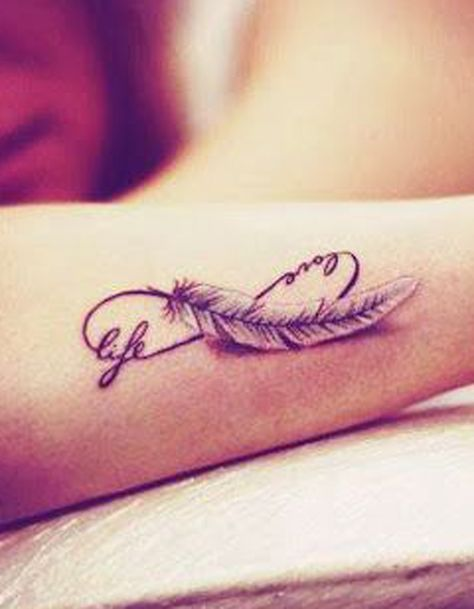 Tatouage Plume Infini Tetovani Pinterest Tatouage Tatouage