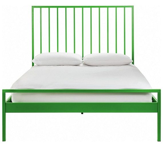 Buy Habitat Lucia Double Bed Frame Green At Argos Co Uk Your Online Shop For Bed Frames Beds Home And Garden Bed Frame Bed Bedroom Furniture