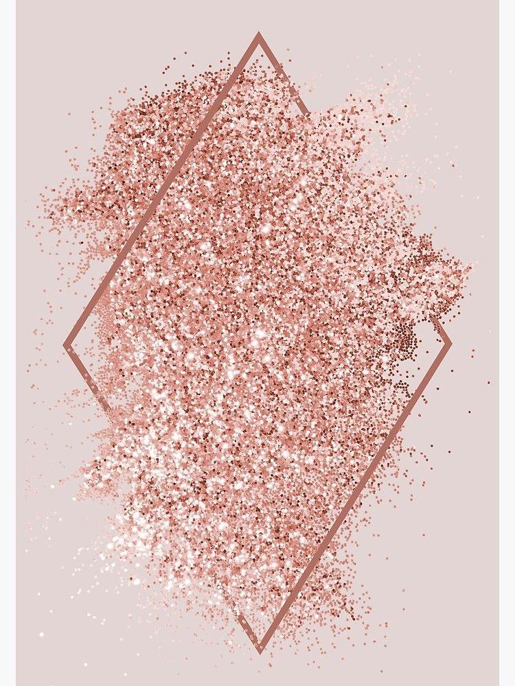 Rose Gold Glitter Geometrical Art Canvas Print By Newburyboutique Gold Wallpaper Background Gold Glitter Background Pink Glitter Background