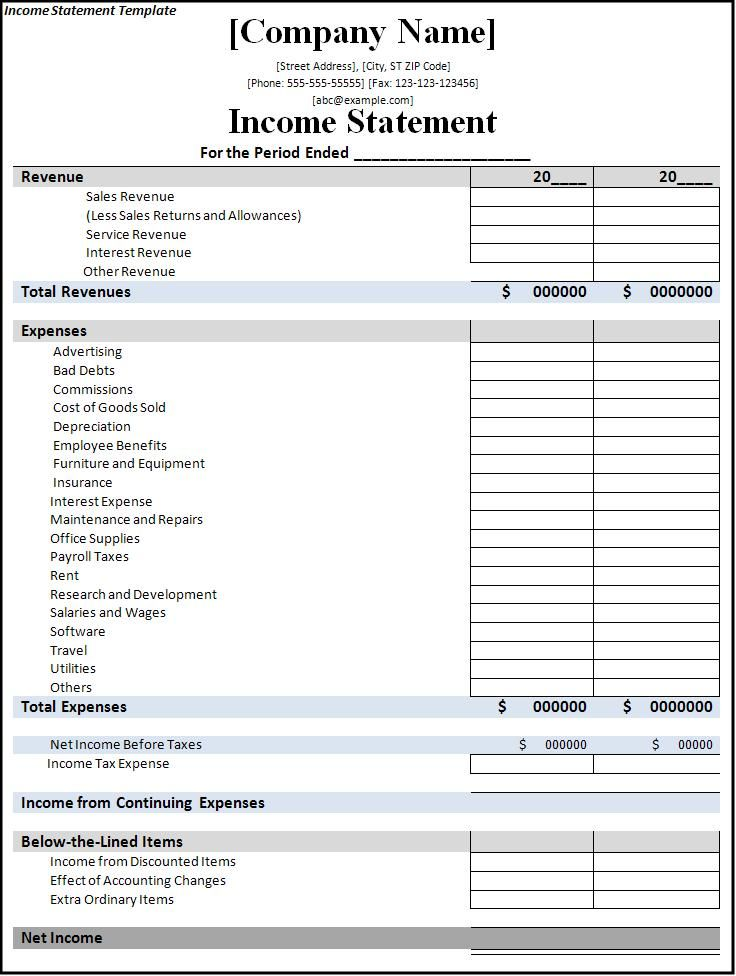 Direct Sales Startup Cost Template Get started at maxhealthgroup - blank income statement