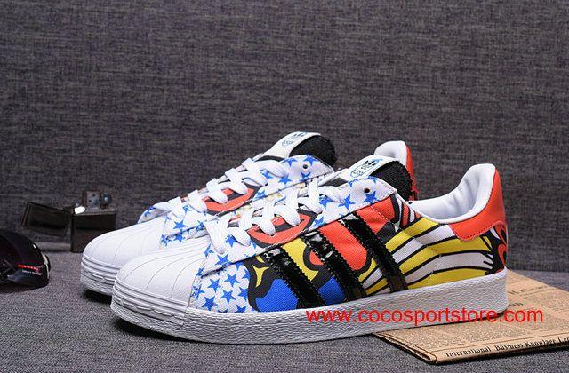 c5f015c0fbe Adidas Superstar Womens 80S Rita Ora B26729 Limited Edition Graffiti Shoes  $68.00